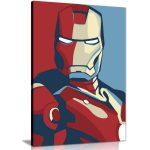 Retro Iron Man Canvas