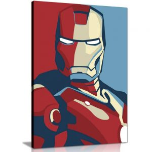 Retro Iron Man Canvas