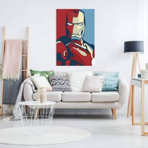 Retro Iron Man Canvas On Wall