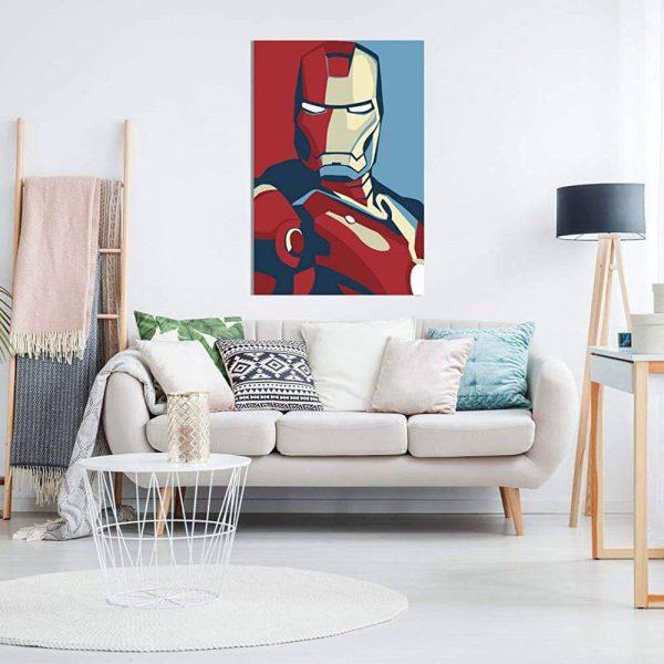 Retro Iron Man Canvas On Wall