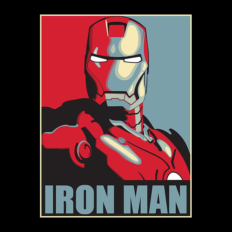 retro iron man poster canvas activehero
