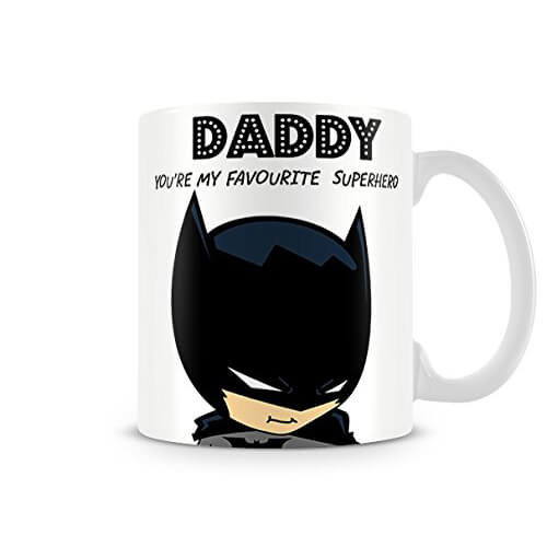 Batman Daddy You're My Favourite Superhero Cup