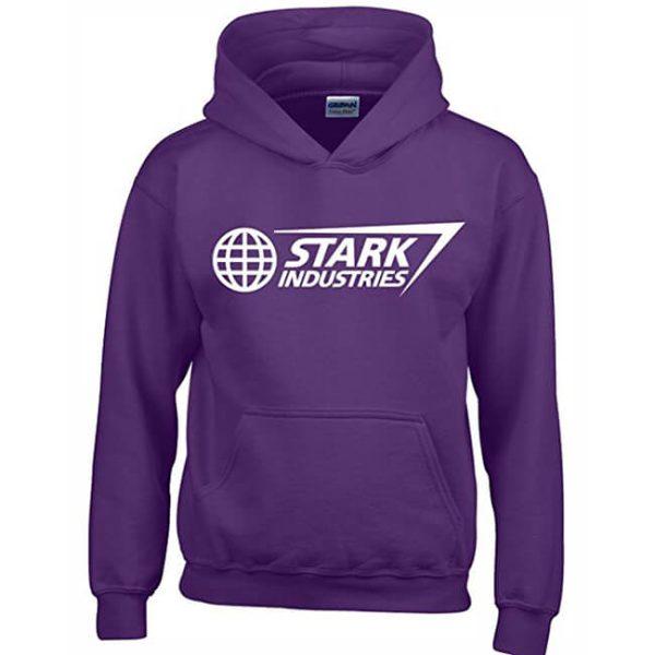 Classic Stark Industries Hoodie Purple