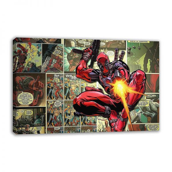 Deadpool Comic Strip Wall Art