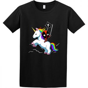 Deadpool Riding a Unicorn T-Shirt
