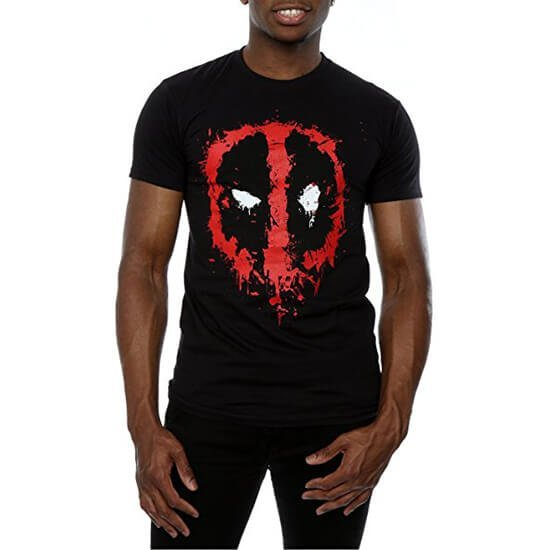 Deadpool Splat Face T-Shirt Black