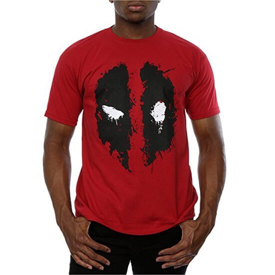 Deadpool Splat Face T-Shirt red
