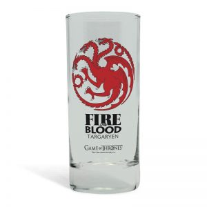 Game of Thrones House Targaryen Glass