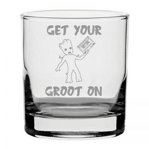 Get Your Groot on Whiskey Glass
