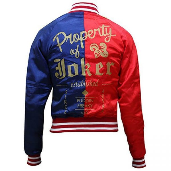 Harley Quinn Satin Bomber Jacket2