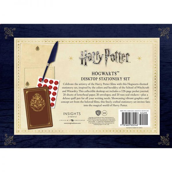 Harry Potter Hogwarts Desktop Stationery Set Back
