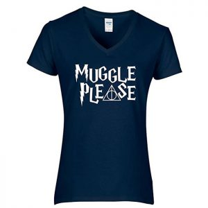 Harry Potter Muggle Please T-Shirt Blue