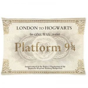 Harry Potter Platform Ticket Pillow Case