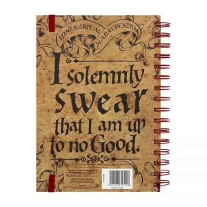 Harry Potter The Marauders Map Notebook Back