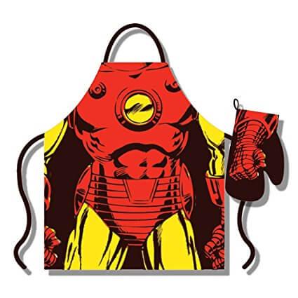Iron Man Apron and Gloves Set