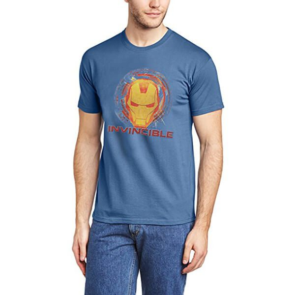 Iron Man Invincible T-Shirt Blue