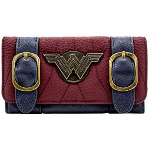 Retro Wonder Women Tri-Fold Purse front