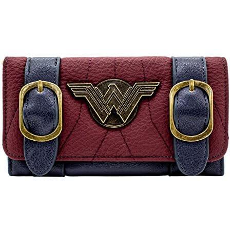 Retro Wonder Women Tri-Fold Purse front