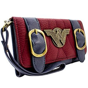 Retro Wonder Women Tri-Fold Purse side view