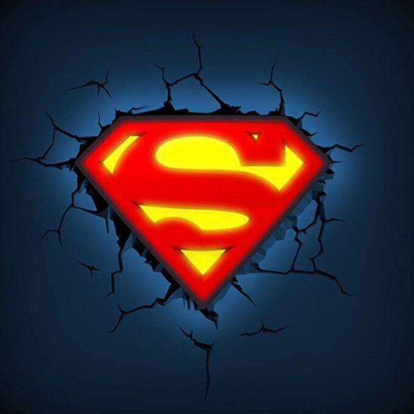 Superman Logo 3D Light3