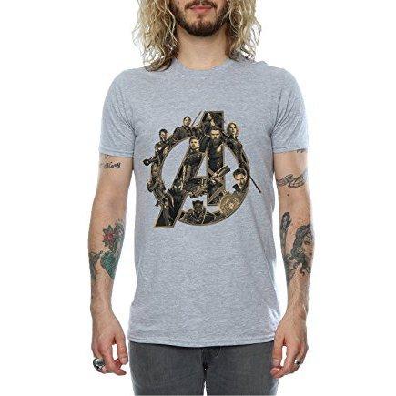 Avenger Infinity War Heroes T-Shirt Grey