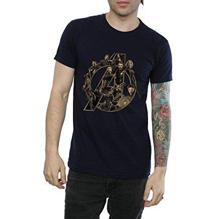 Avenger Infinity War Heroes T-Shirt Navy