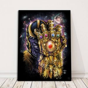 Marvel Thanos Gauntlet Poster On Floor