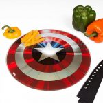 Captain America Glass Shield Chopping Board