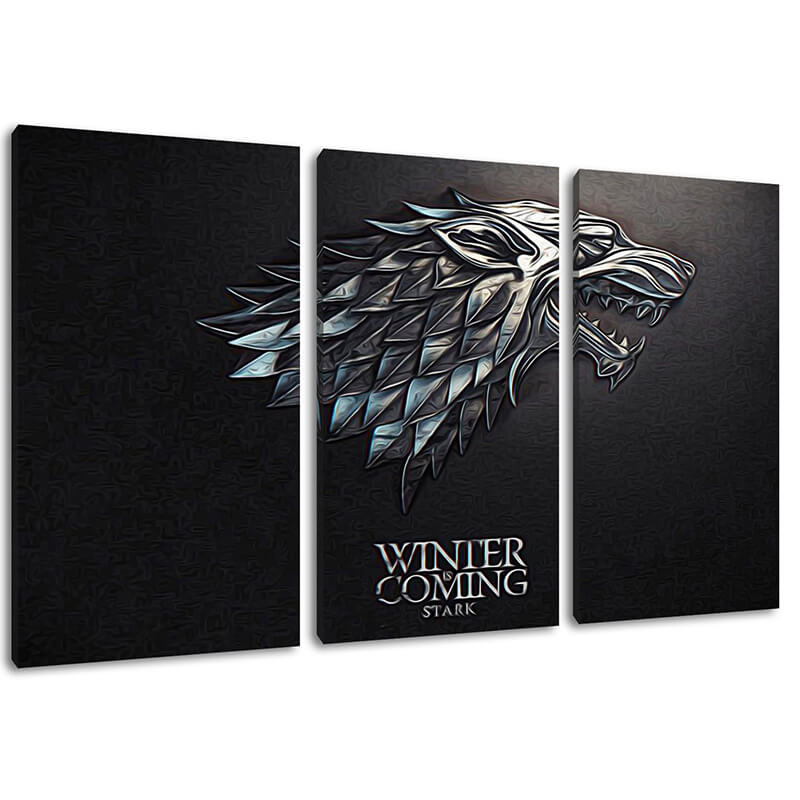 Game of Thones Winter Is Coming 3 Piece Canvas