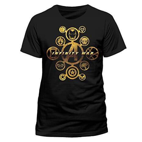 Black & Gold Avengers Infinity War T-Shirt