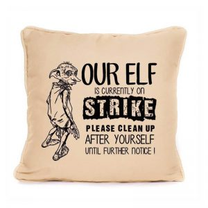 Harry Potter Elf On Strike Pillow