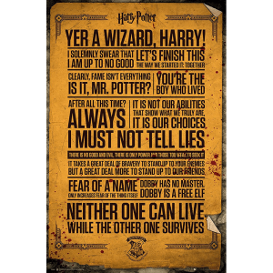 Harry Potter Quotes Poster