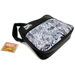 Marvel Comics Black & White Messenger Bag