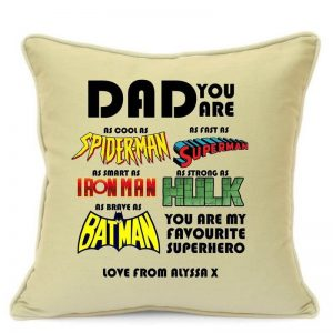 Personalised Dad Superhero Pillow Cases