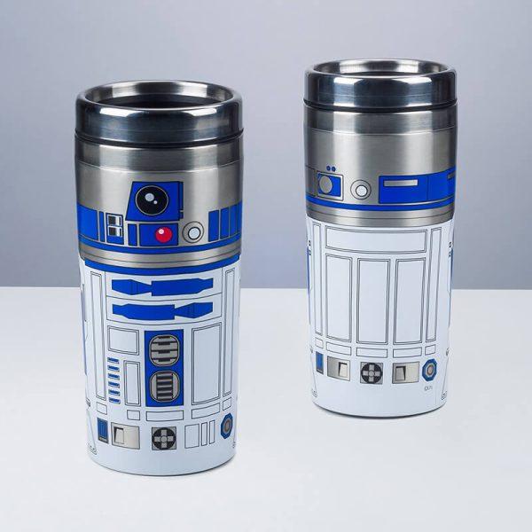 Star Wars R2-D2 Travel Mug Front & Back