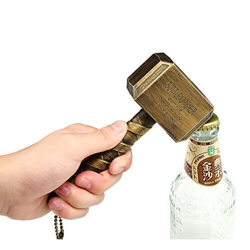 Thor Mjolnir Hammer Bottle Opener With Bottle