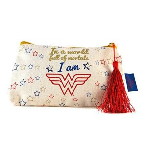 Wonder Woman Makeup Bag front