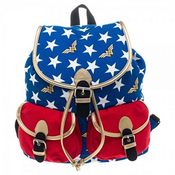 Wonder Woman Stars Backpack front