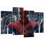 Spider-man Set of 4 Canvas Split Prints