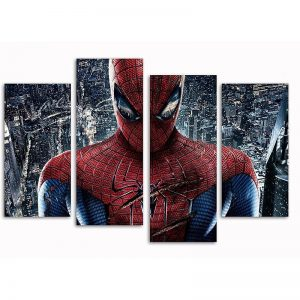 Spider-man Set of 4 Canvas Split Prints2