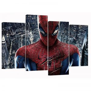 Spider-man Set of 4 Canvas Split Prints