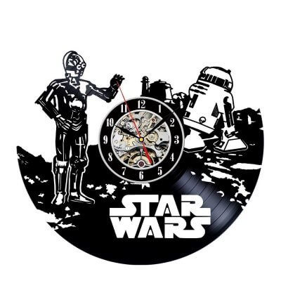 Star Wars Movie Vinyl Clock
