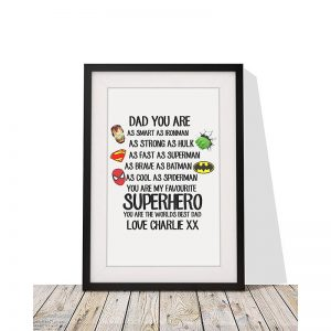 Personalised Superhero Framed Print