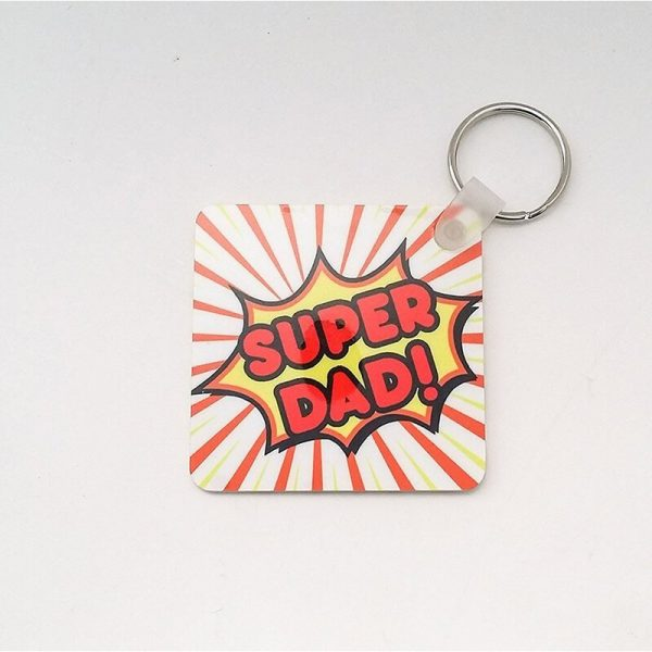 Super Dad Keychain