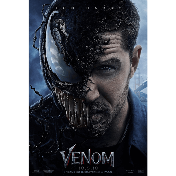 Venom 2018 Movie Poster Print Canvas