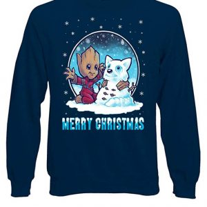 Marvel Groot Guardians of The Galaxy Christmas Blue