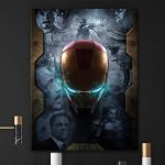 10 Years Of Marvels Iron Man Canvas by Bosslogic