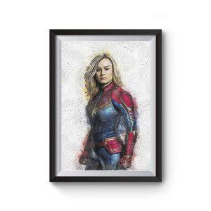 Captain Marvel Wall Art Print