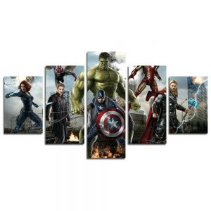 A 5 Piece Avengers Canvas