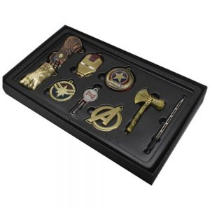 Avengers End Game Keyring set